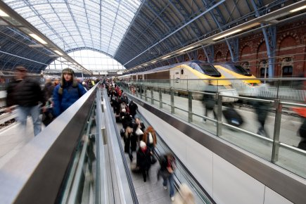 The rail company eurostar reported on wednesday a further increase in